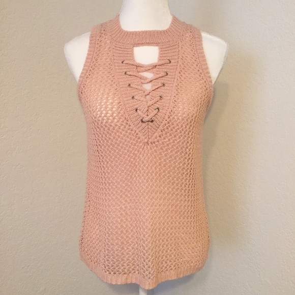 Boston Proper Tops Blush Pink Crochet Festival Top Poshmark